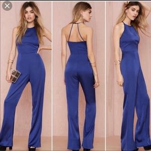 Cotton Candy royal blue jumpsuit